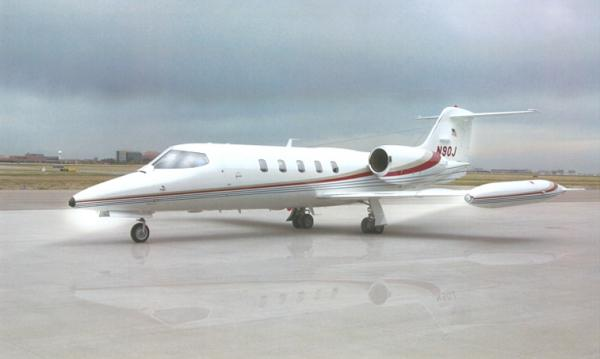 The Learjet 35 is known, above all, for its range. It can fly 2,056 miles nonstop. The Learjet 35 offers more than range: it has good handling characteristics, a low fuel burn, and fast cruise speeds as well.A maximum of eight passengers can travel in the Learjet 35's cabin. It is 12.9 feet long, 4.9 feet wide and 4.3 feet high. There are 40 cubic feet of baggage space, enough to hold about eight standard-sized suitcases.The real strength of the Learjet 35 is its range, takeoff, and cruise capabilities. Two
