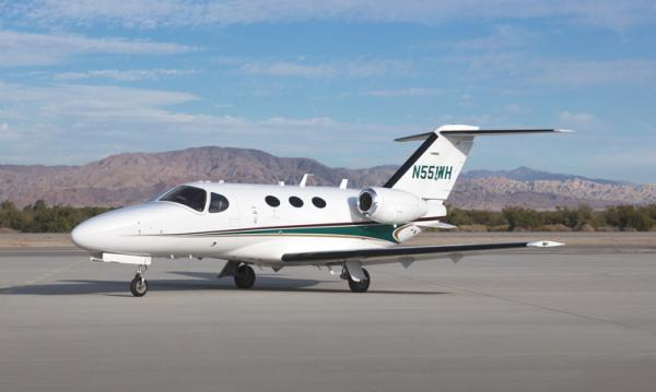 The Cessna Citation Mustang can be described as an entry-level business jet belonging to the extremely successful Citation series. Aimed toward owners of lightly pressurized prop-jets, the Mustang delivers excellent value in the compact light jet category. The Mustang adheres to Citation's promise of performance, efficiency, and style. It can cruise at speeds as fast as 340 knots true airspeed. At sea level, the Mustang can take off in just 3,110 feet. Following take off, the jet can climb swiftly to 41,000